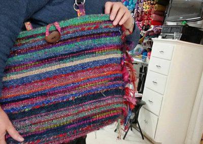 Dina's SAORI tote bag