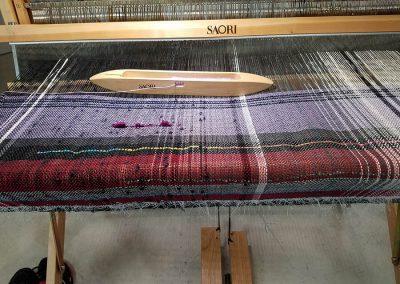 First warp on the WX90 SAORI loom