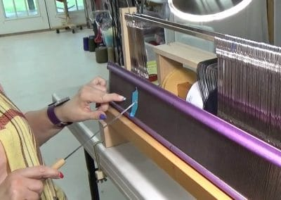 How to Set up a SAORI Ready-Made Warp at the Beaming & Threading Station